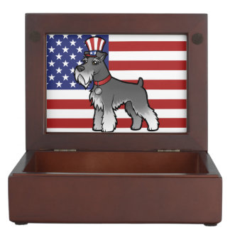 Add Your Own Pet and Flag Keepsake Box