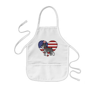 Add Your Own Pet and Flag Kids Apron