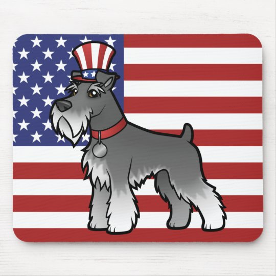 Add Your Own Pet and Flag Mouse Mat