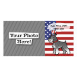 Add Your Own Pet and Flag Personalized Photo Card