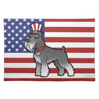 Add Your Own Pet and Flag Placemat