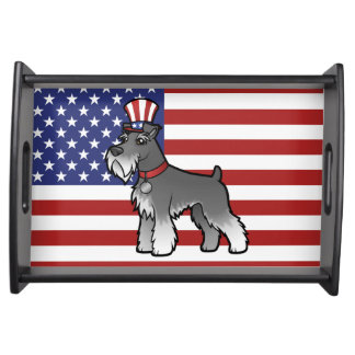 Add Your Own Pet and Flag Serving Tray