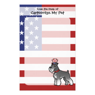 Add Your Own Pet and Flag Stationery Paper