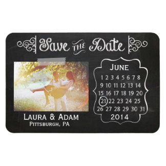 Add Your Own Photo Chalkboard Save the Date Magnet