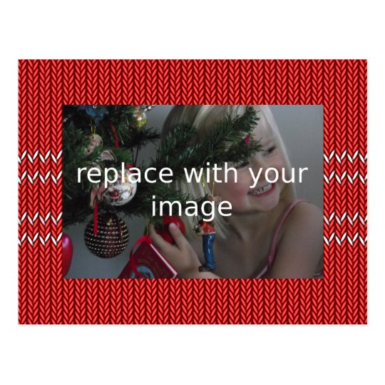 Add your own photo Christmas Sweater Postcard
