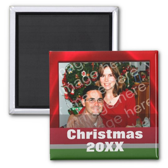 Add Your Own Photo Custom Holiday Magnets