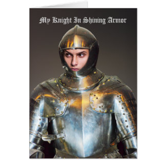 Add Your Own Photo - Funny Knight In Shining Armor Card