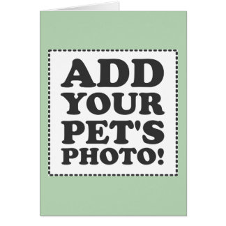 """Add Your Own Photo"" Note Card"