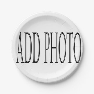 add your own photo paper plates 7 inch paper plate