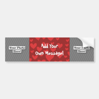 Add Your Own Photo & Pattern Bumper Sticker