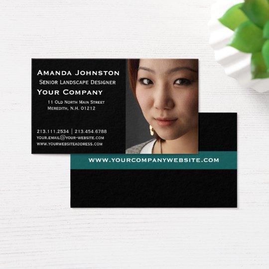 Add Your Own Photo Portrait Business Card