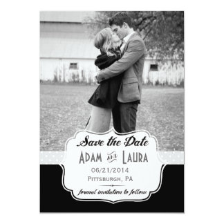 Add Your Own Photo Save the Date Black Card