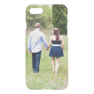 Add your own photo save the date engagement clear iPhone 7 case