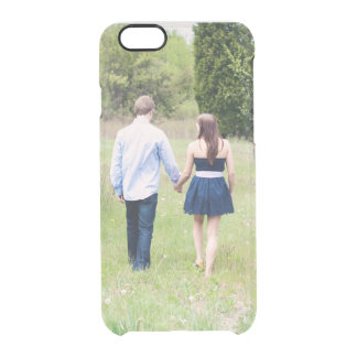 Add your own save the date engagement photo clear iPhone 6 plus case