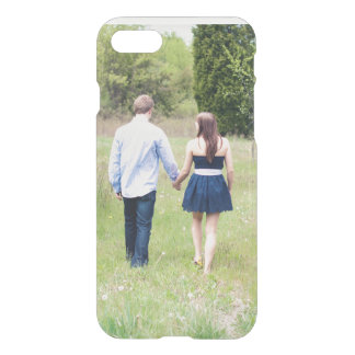 Add your own save the date engagement photo clear iPhone 8/7 case