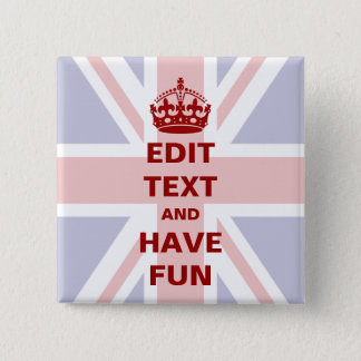 Add your own text! 15 cm square badge