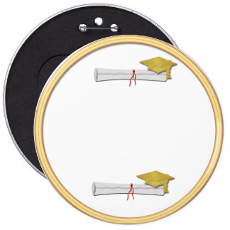 Add Your Own Text Gold Graduation Button