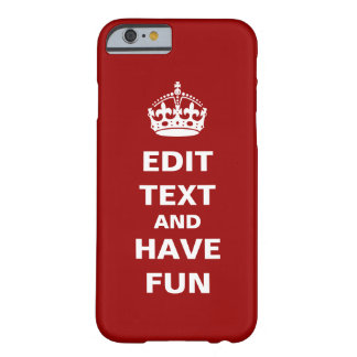 Add your own text here! barely there iPhone 6 case
