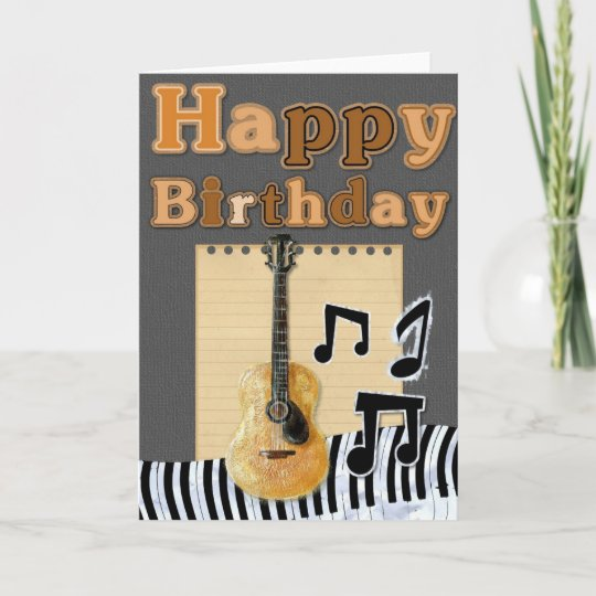 Add Your Own Text Musical Birthday Card