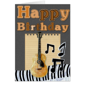 Add Your Own Text: Musical Birthday Greeting Card