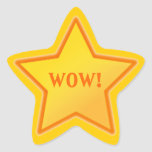 Add Your Own Text Star Sticker