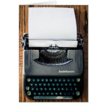 Add Your Own Text to the Typewriter Paper! Greeting Card