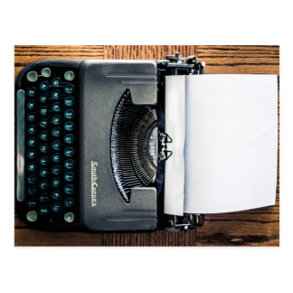 Add Your Own Text to the Typewriter Paper! Postcard