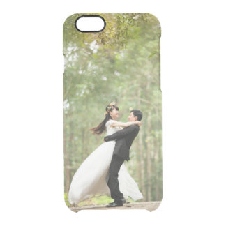 Add your own wedding or engagement photo clear iPhone 6 plus case