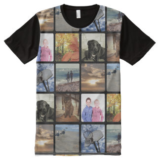 Add Your Personalized Photo Collage Print All Over All-Over Print T-Shirt