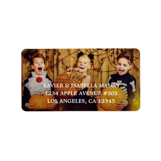Add Your Photo Address Label