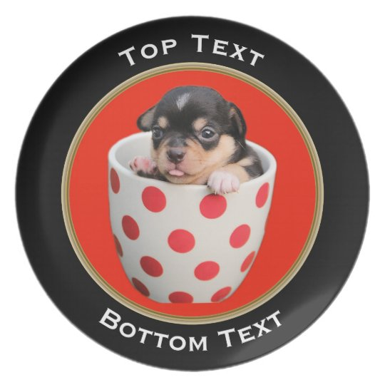 Add Your Photo and Text Custom Round Frame