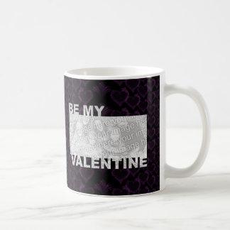 ADD Your Photo Be My Valentine Frame - Goth Hearts Coffee Mug