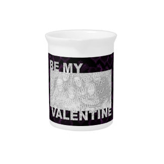 ADD Your Photo Be My Valentine Frame - Goth Hearts Drink Pitcher
