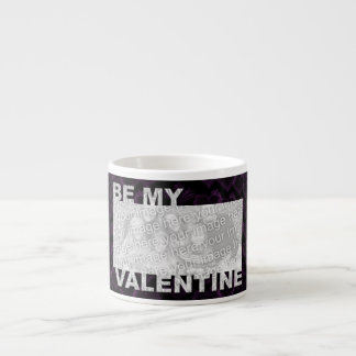 ADD Your Photo Be My Valentine Frame - Goth Hearts Espresso Mugs