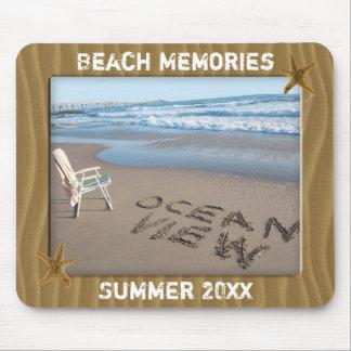 Add Your Photo Beach Sand Photo Frame Mousepad