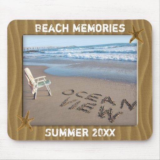 Add Your Photo Beach Sand Photo Frame Mousepad Mouse Pads