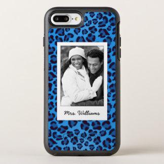 Add Your Photo | Blue Leopard Texture OtterBox Symmetry iPhone 8 Plus/7 Plus Case