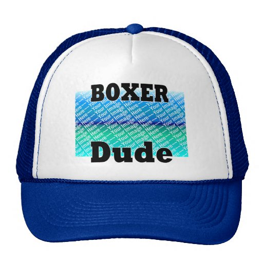 ADD Your Photo Boxer DUDE Hats