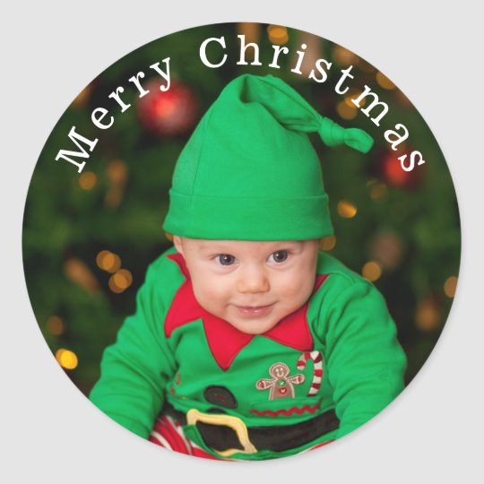 Add Your Photo Christmas Stickers