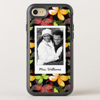 Add Your Photo   Dark Autumn Pattern OtterBox Symmetry iPhone 7 Case