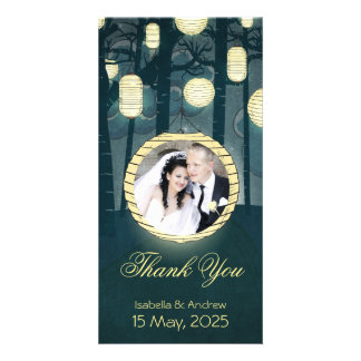Add your photo Dream Forest Wedding Thank You Photo Card