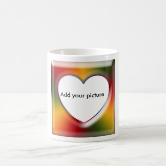 Add your photo, heart shape basic white mug