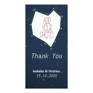 Add Your Photo Love Constellation Thank You Personalized Photo Card