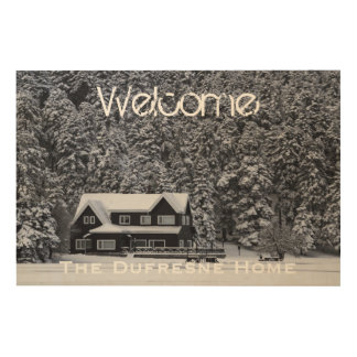 Add Your Photo & Name Rustic Welcome Sign