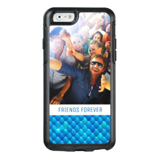 Add Your Photo   Neon Blue Fish Scales OtterBox iPhone 6/6s Case