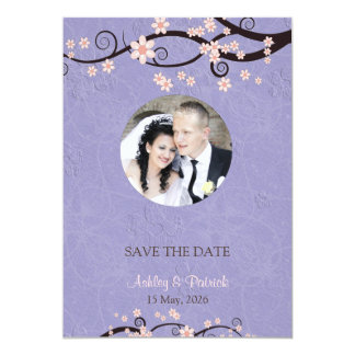 Add Your Photo Prisoners of Love Violet Wedding 13 Cm X 18 Cm Invitation Card