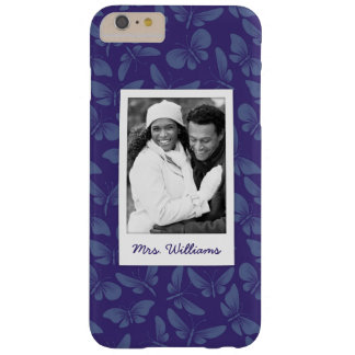 Add Your Photo | Purple Butterflies Barely There iPhone 6 Plus Case