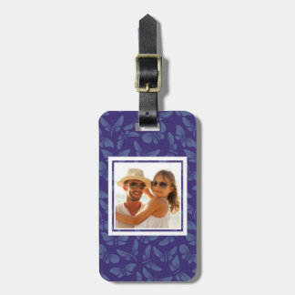 Add Your Photo | Purple Butterflies Luggage Tag