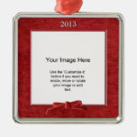 Add Your Photo - Red Chenille Square Template
