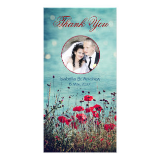 Add Your Photo Sea of Love Thank You Personalized Photo Card